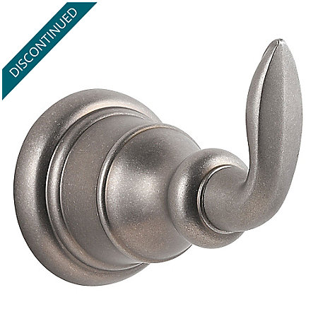 Rustic Pewter Avalon Robe Hook - BRH-CB0E - 1