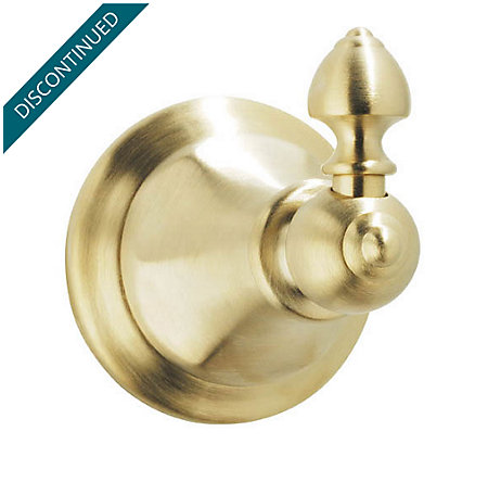 Polished Brass Catalina Robe Hook - BRH-E0FF - 1
