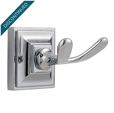 Polished Chrome Shelton Robe Hook - BRH-S0CC - 1