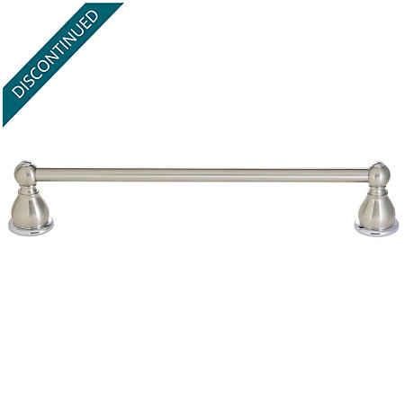"Brushed Nickel / Polished Chrome Georgetown 30"" Towel Bar - BTB-B3CK - 1"