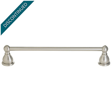 "Brushed Nickel Conical 24"" Towel Bar - BTB-C2KK - 1"