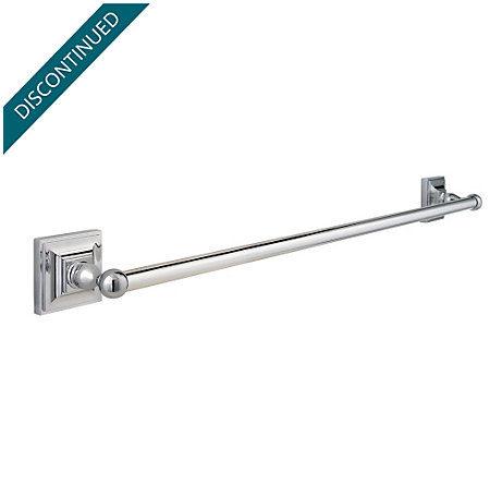 "Polished Chrome Shelton 24"" Towel Bar - BTB-S2CC - 1"