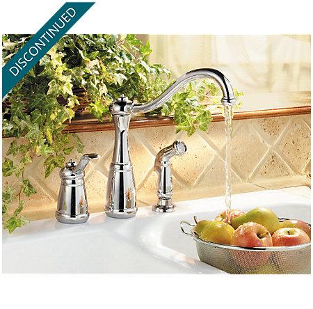 Polished Chrome Marielle 1-Handle Kitchen Faucet - F-026-3NCC - 2