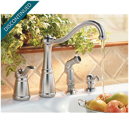 Stainless Steel Marielle 1-Handle Kitchen Faucet - F-026-4NSS - 2