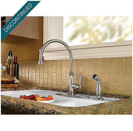 Stainless Steel Alina 1-Handle Kitchen Faucet - F-029-4HYS - 4