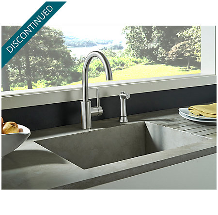 Stainless Steel Solo 1-Handle Kitchen Faucet - F-029-4SLS - 4