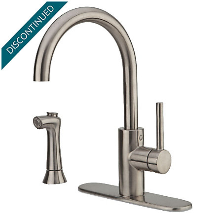 Stainless Steel Solo 1-Handle Kitchen Faucet - F-029-4SLS - 2
