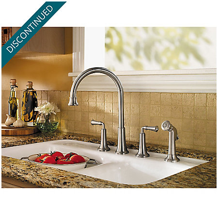 Stainless Steel Bellport 2-Handle Kitchen Faucet - F-031-4BPS - 2