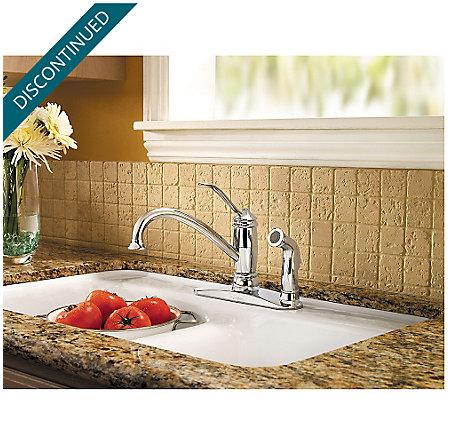 Polished Chrome Brookwood 1-Handle Kitchen Faucet - F-034-3ALC - 2