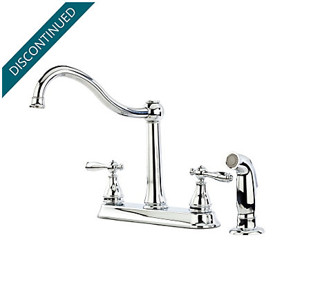 Polished Chrome Ainsley 2-Handle Kitchen Faucet - F-036-4AYC - 1
