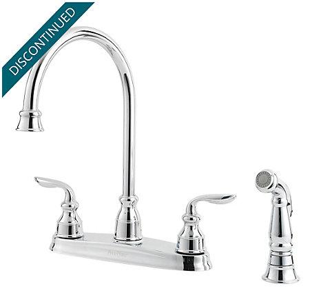 Polished Chrome Avalon 2-Handle Kitchen Faucet - F-036-4CBC - 1