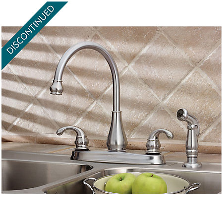 Stainless Steel Treviso 2-Handle Kitchen Faucet - F-036-4DSS - 1