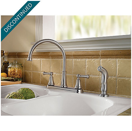 Stainless Steel Bremerton 2-Handle Kitchen Faucet - F-036-4SVS - 2