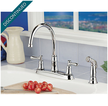 Polished Chrome Harbor 2-Handle Kitchen Faucet - F-036-CL4C - 2