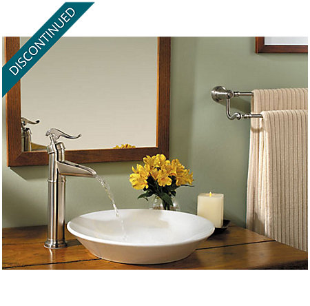 Brushed Nickel Ashfield Single Handle Vessel Faucet - F-040-YP0K - 2