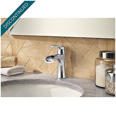 Polished Chrome Aliante Single Control, Centerset Bath Faucet - F-042-ATCC - 3