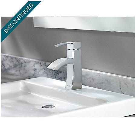 Polished Chrome Bernini Single Control, Centerset Bath Faucet - F-042-BNCC - 4