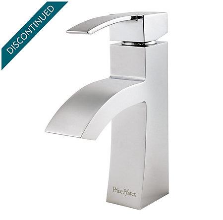 Polished Chrome Bernini Single Control, Centerset Bath Faucet - F-042-BNCC - 2