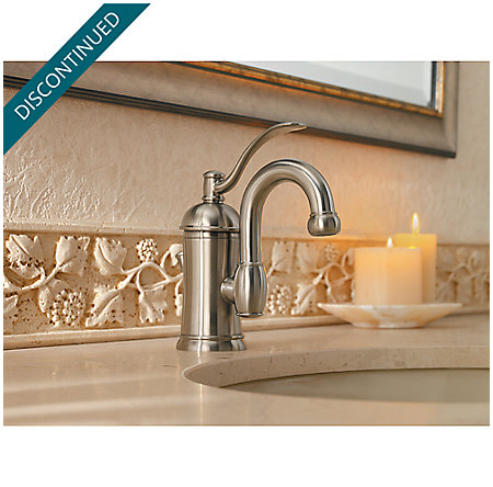 Brushed Nickel Amherst Single Control, Centerset Bath Faucet - F-042-HAK0 - 3