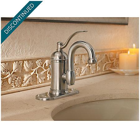 Brushed Nickel Amherst Single Control, Centerset Bath Faucet - F-042-HAK0 - 4