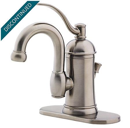 Brushed Nickel Amherst Single Control, Centerset Bath Faucet - F-042-HAK0 - 2