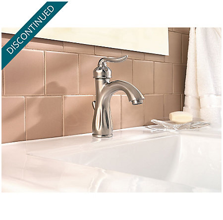 Brushed Nickel Sedona Single Control, Centerset Bath Faucet - F-042-LT0K - 3