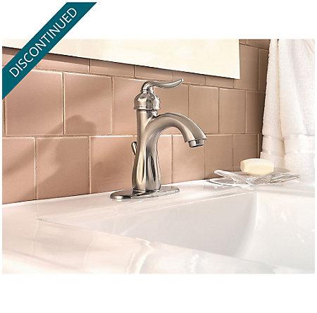 Brushed Nickel Sedona Single Control, Centerset Bath Faucet - F-042-LT0K - 4