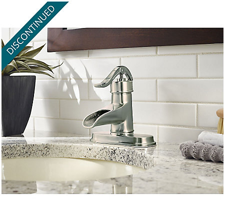 Brushed Nickel Pendleton Single Control, Centerset Bath Faucet - F-042-PNKK - 4