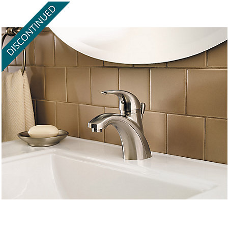 Brushed Nickel Parisa Single Control, Centerset Bath Faucet - F-042-PRKK - 3