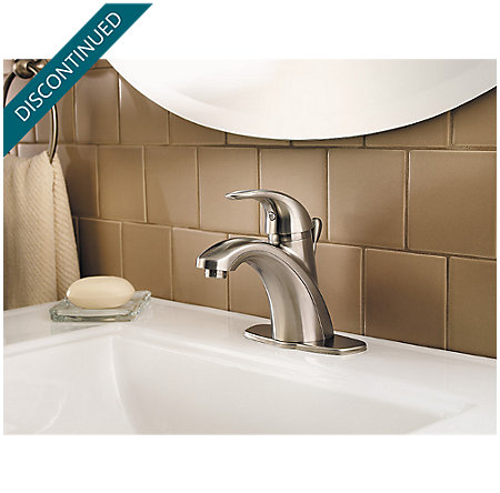 Brushed Nickel Parisa Single Control, Centerset Bath Faucet - F-042-PRKK - 5