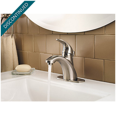 Brushed Nickel Parisa Single Control, Centerset Bath Faucet - F-042-PRKK - 6