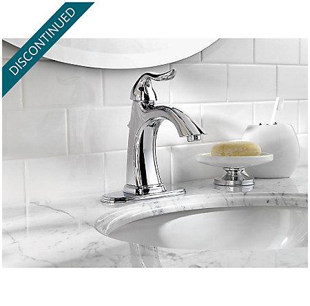 Polished Chrome Santiago Single Control, Centerset Bath Faucet - F-042-ST0C - 4