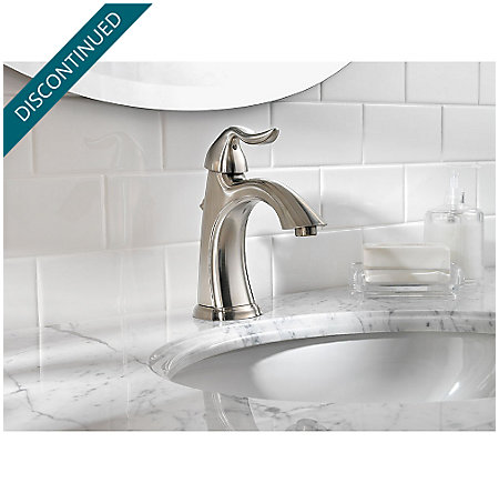 Brushed Nickel Santiago Single Control, Centerset Bath Faucet - F-042-ST0K - 3