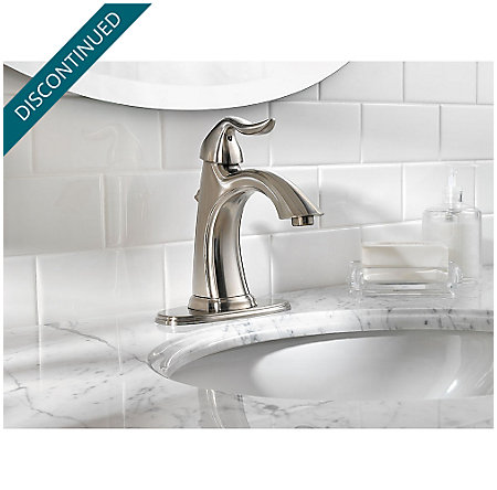 Brushed Nickel Santiago Single Control, Centerset Bath Faucet - F-042-ST0K - 4