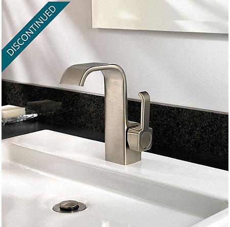 Brushed Nickel Skye Single Control, Centerset Bath Faucet - F-042-SYKK - 3