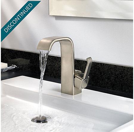 Brushed Nickel Skye Single Control, Centerset Bath Faucet - F-042-SYKK - 4