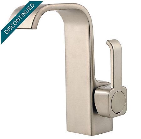 Brushed Nickel Skye Single Control, Centerset Bath Faucet - F-042-SYKK - 1