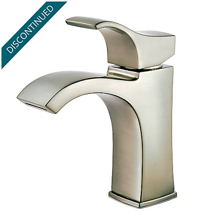 Brushed Nickel Venturi Single Control, Centerset Bath Faucet - F-042-VNKK - 1