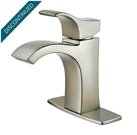 Brushed Nickel Venturi Single Control, Centerset Bath Faucet - F-042-VNKK - 2