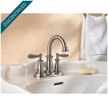 Brushed Nickel Langston Centerset Bath Faucet - F-043-LNKK - 2