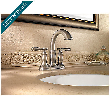Brushed Nickel Hanover Centerset Bath Faucet - F-043-TMKK - 2