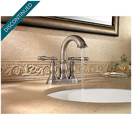 Brushed Nickel Hanover Centerset Bath Faucet - F-043-TMKK - 3