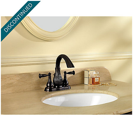 Tuscan Bronze Virtue Centerset Bath Faucet - F-043-VTYY - 2