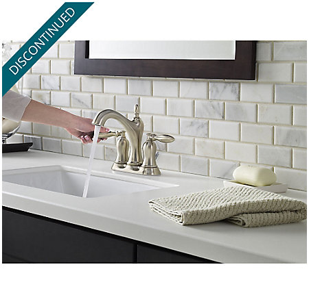 Brushed Nickel Arlington Centerset Bath Faucet - F-048-ARKK - 4