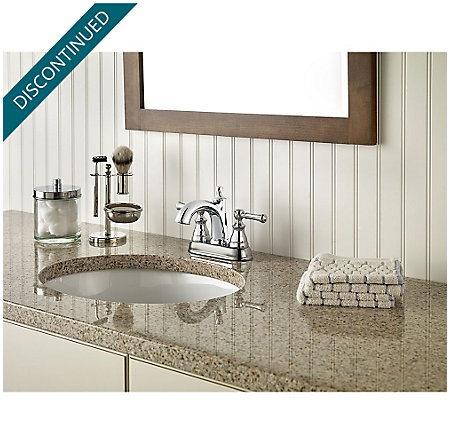 Polished Chrome Autry Centerset Bath Faucet - F-048-AUCC - 2