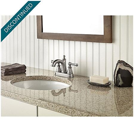 Brushed Nickel Autry Centerset Bath Faucet - F-048-AUKK - 2