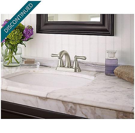 Brushed Nickel Canton Centerset Bath Faucet - F-048-CNKK - 2