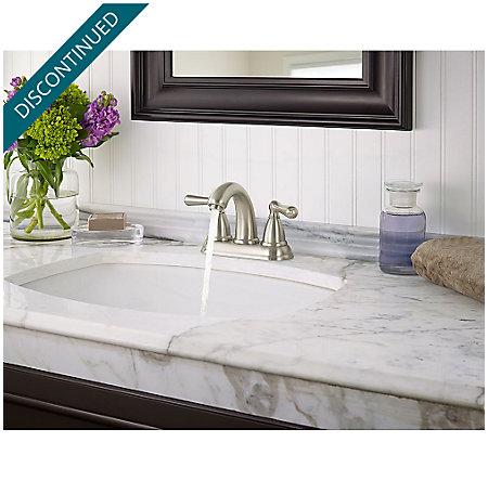 Brushed Nickel Canton Centerset Bath Faucet - F-048-CNKK - 3
