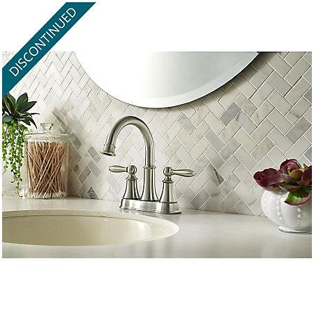 Brushed Nickel Courant Centerset Bath Faucet - F-048-COKK - 2