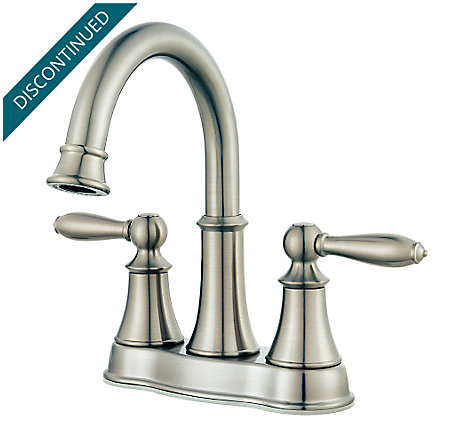 Brushed Nickel Courant Centerset Bath Faucet - F-048-COKK - 1